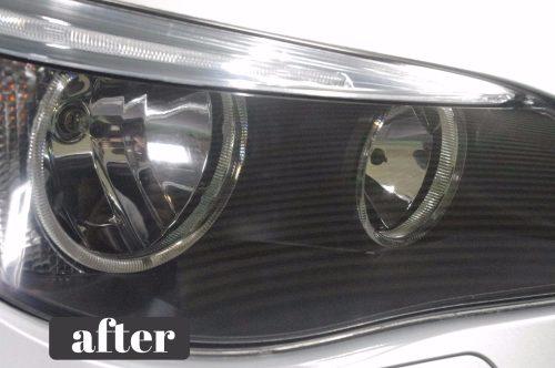 BMWのヘッドライト磨き
