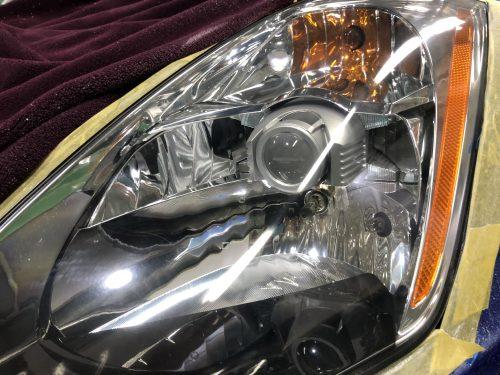 z33のヘッドライト磨き
